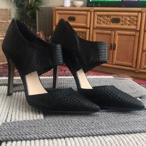 Never worn black snake heels